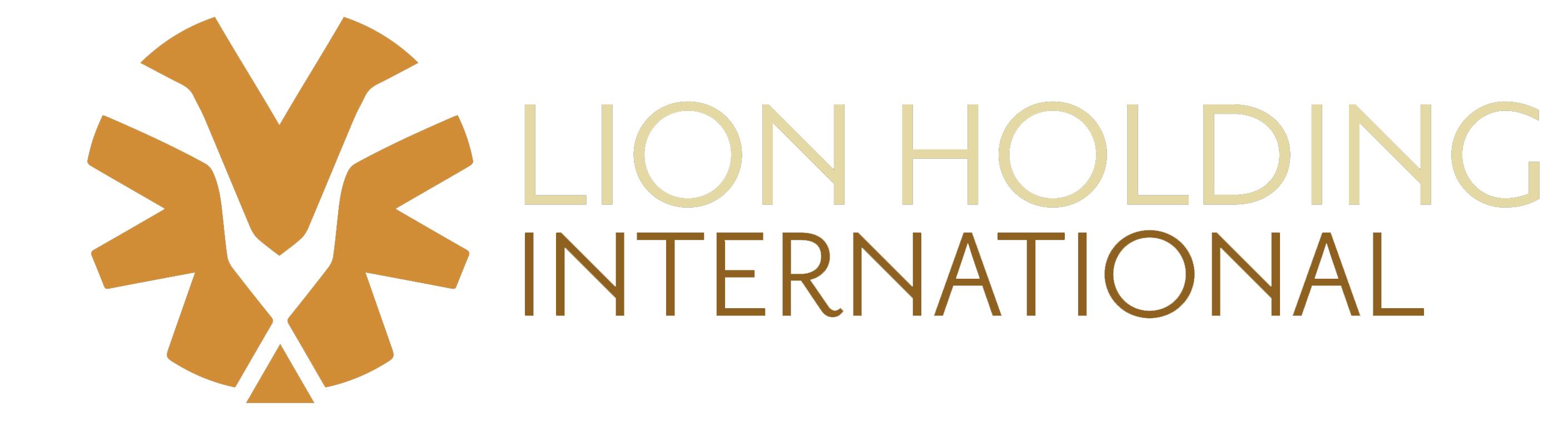 Lion Holding Logo White